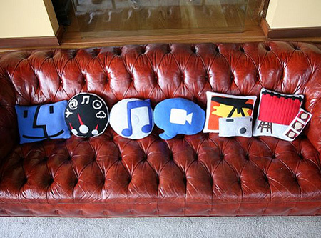 geek pillows, mac app pillows